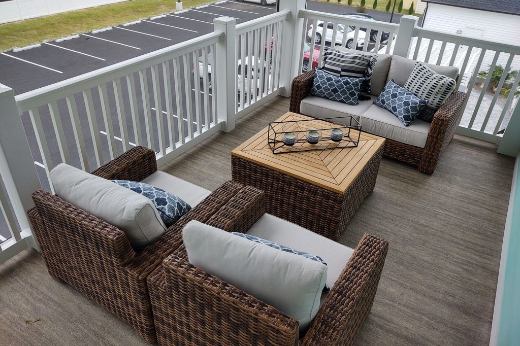 Deck with Driftwood