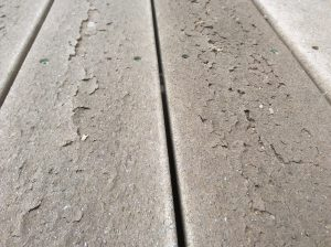 Deteriorating composite deck boards