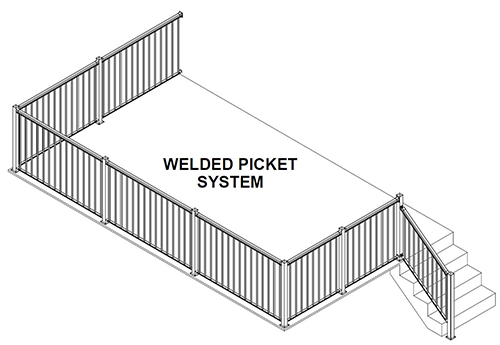 Welded Picket Railing